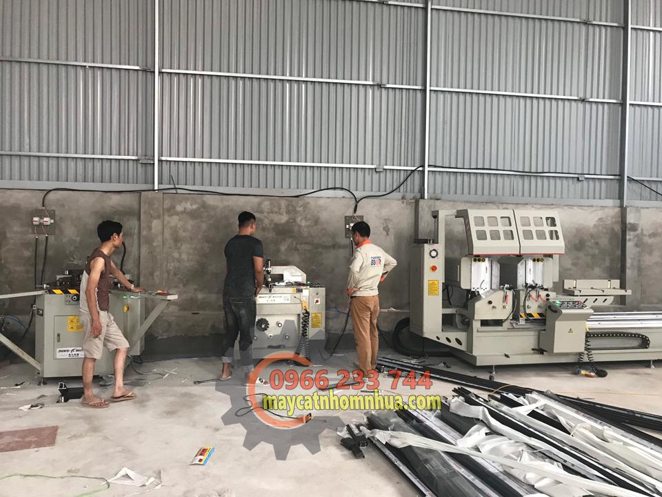 Lắp đặt máy cắt nhôm 08S tại Hoài Đức Hà Nội