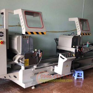 Lắp đặt dàn máy cắt nhôm 2 đầu 09 tại Hải Phòng