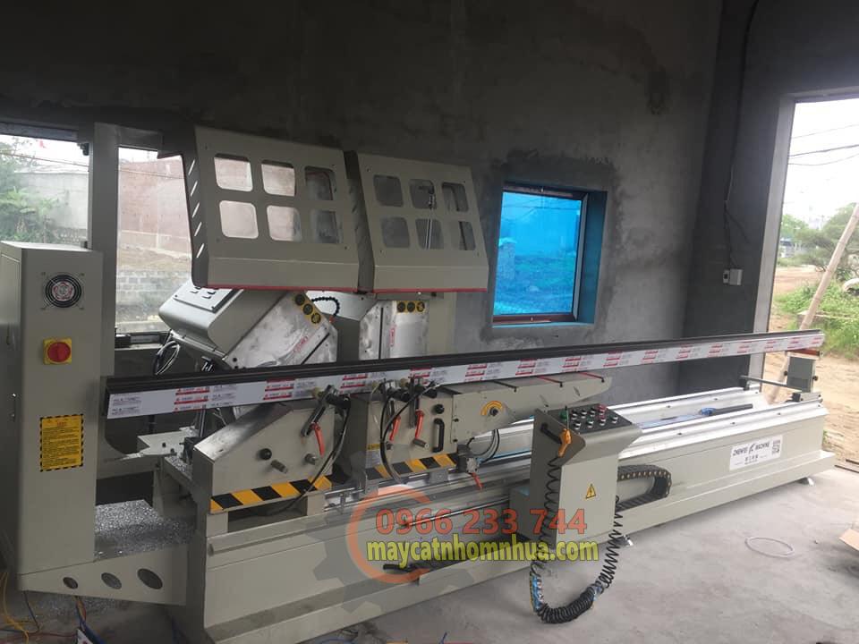 Lắp đặt dàn máy cắt nhôm 2 đầu 08S tại Thành Phố Hải Dương