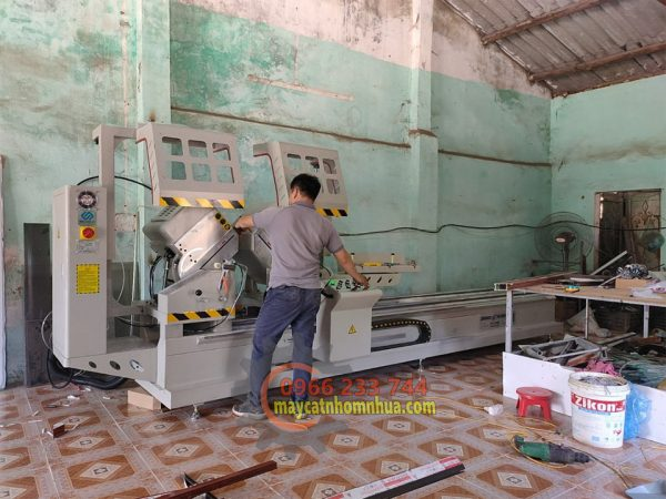 Lắp đặt dàn máy cắt nhôm 2 đầu 08S tại Xuân Mai, Chương Mỹ, Hà Nội