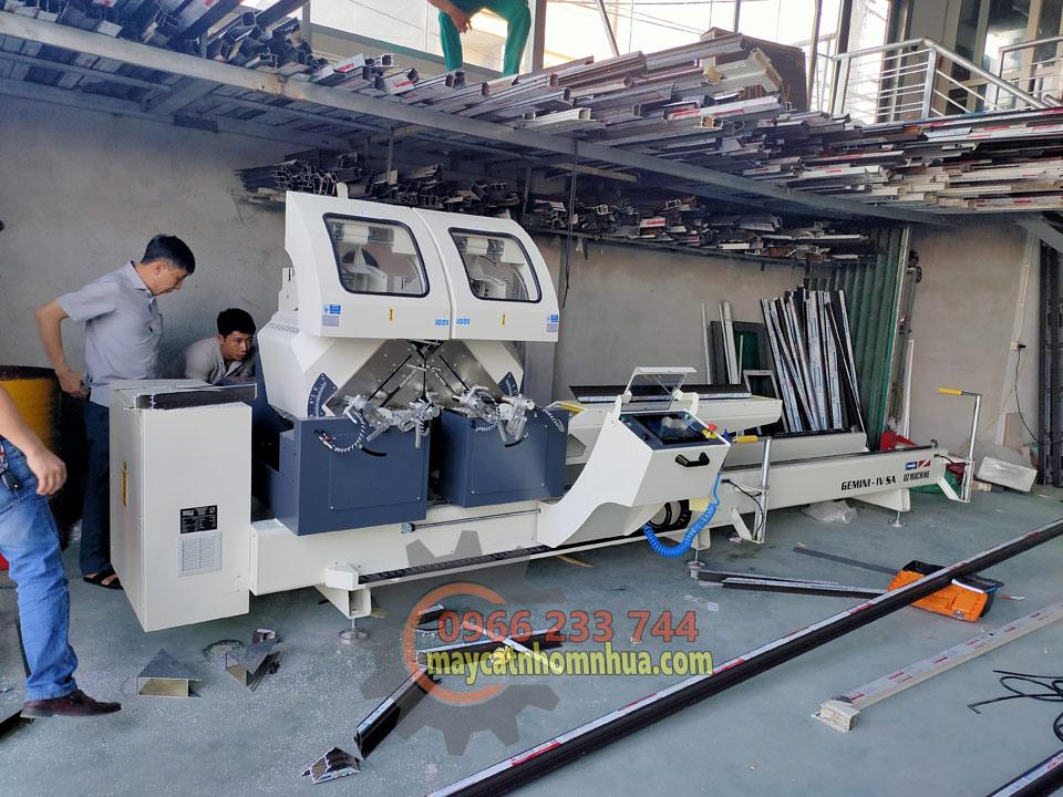 Lắp đặt dàn máy cắt nhôm 2 đầu GEMINI-IV SA tại Việt Trì, Phú Thọ